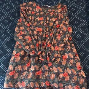 Zara peasant dress